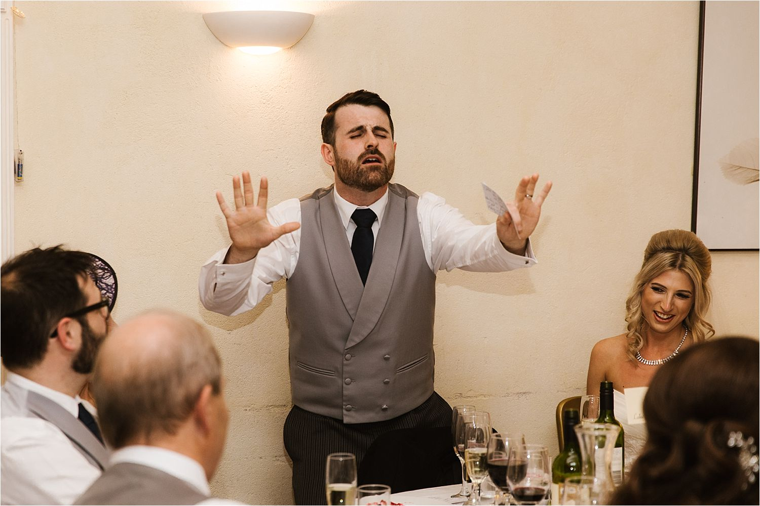 Very animated groom's speech at Belmount Hall